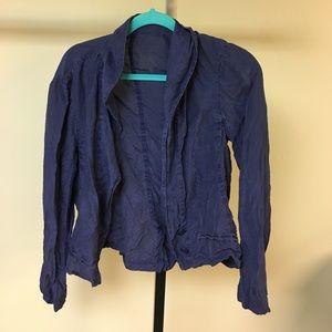 Free people 100% silk drank purple jacket