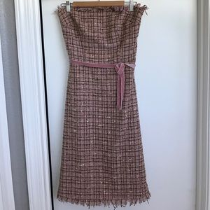 Strapless Tweed Dress