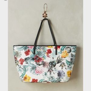 NWT Anthropologie Floraison Tote with pouch