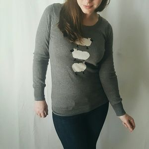 Gray Old Navy Sheep Sweater