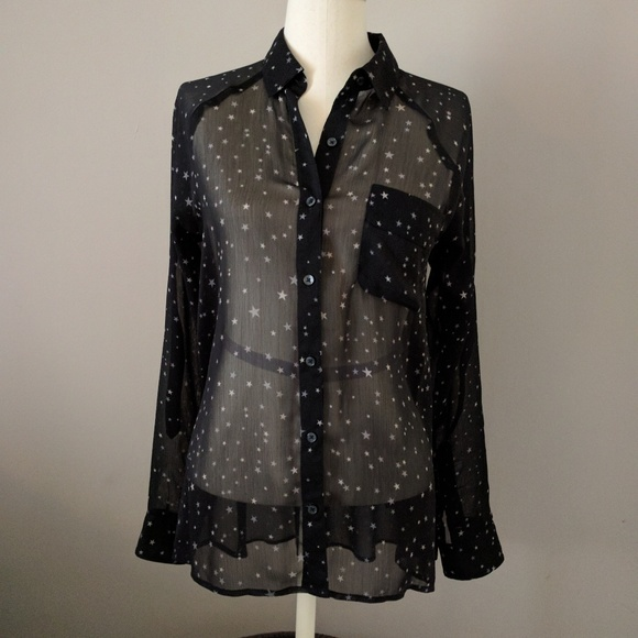 Express Tops - EXPRESS Size S:  Star print blouse