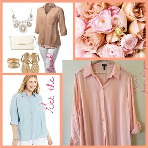 Jessica Simpson Tops - Just In🍃Jessica Simpson Light Coral Top🍃