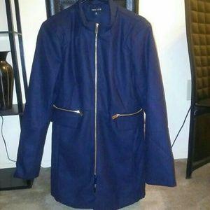 Jackets & Blazers - Wool blend brand new XL navy colored jacket coat