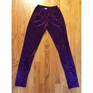 Pants - Crushed Velvet Leggings