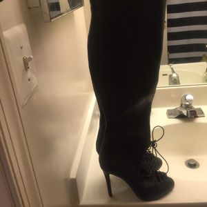 Aldo Shoes - ALDO Knee High Stretch Lace up Stiletto 9M