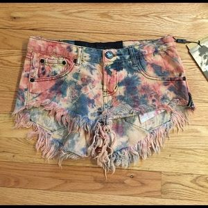 One Teaspoon Bonitas tyedye shorts