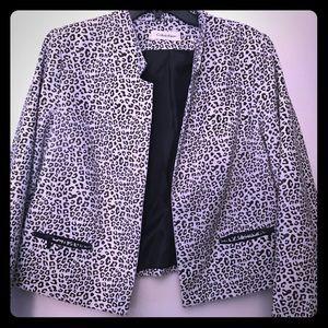 Calvin Klein plus leopard blazer