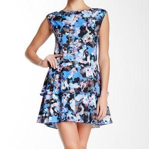 Cece blue floral dress Cynthia steffe nwt spring