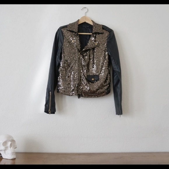 8f8f7c148054c english rose Jackets   Blazers - Gold Sequin Jacket