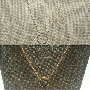 Halo Circle Necklace