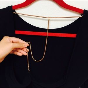 H&M Open Back Shirt with Attached Chain