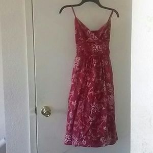 Red floral dress by Max Studios