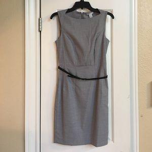 Grey belted dress, H&M