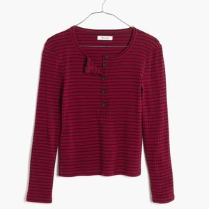 Madewell Striped Henley Tee