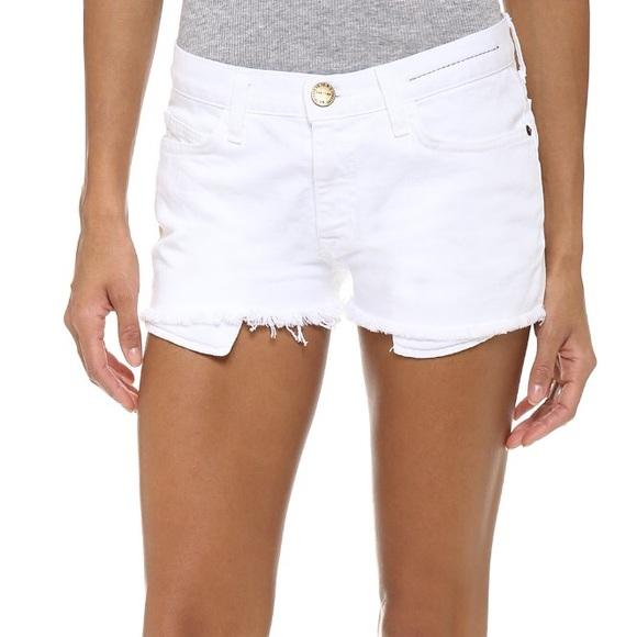 bd470e55b8 Current/Elliott Pants - Current/Elliott white denim Boyfriend shorts 23