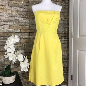 J. Crew Mollie Cotton Taffeta Yellow Dress 48013
