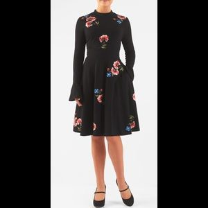 eshakti Dresses & Skirts - New Eshakti Black Floral Fit & Flare Dress 18W