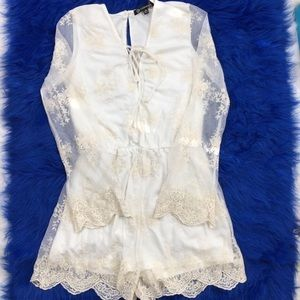 Pants - Lace Romper