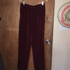 High waisted polyester trousers