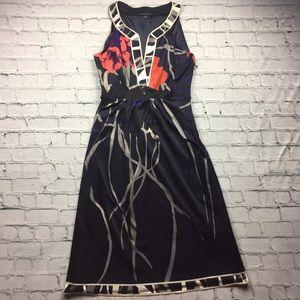 Elie Tahari Dresses & Skirts - Gorgeous Elie Tahari Navy Floral Dress