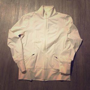 White UA Full Zip