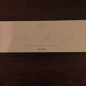 """kate spade Other - """"just married"""" Kate Spade car decal"""