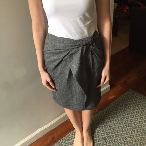 Banana Republic grey tweed skirt