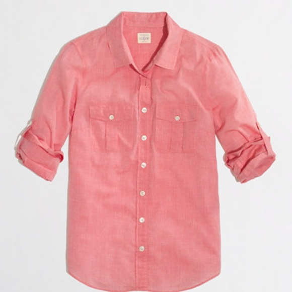 J. Crew Tops - J CREW women pink button down shirt. 4530fc788