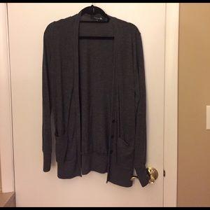 Dark Grey Long Cardigan