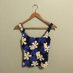 Vintage Other - Vintage Floral 🌼 Swim Suit Tank