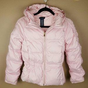 🌺Ralph Lauren Girls Puffer Pink Jacket Size Large