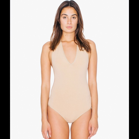 9450a690d3b0 American Apparel Tops - New! American Apparel Nude halter bodysuit
