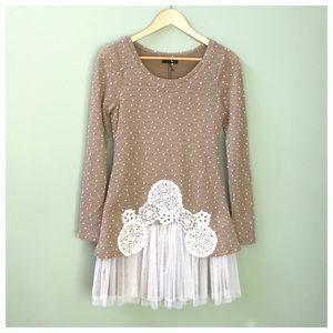 Modcloth Ryu Tulle Sweater Dress