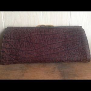 Capetown Leather Clutch Bag