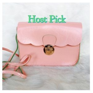 Handbags - Pink Ruffled Mini Bag