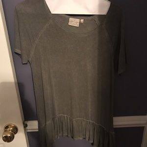 Dantelle Tops - Grey Short Sleeve Blouse