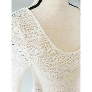 AEO Crochet Lace Top