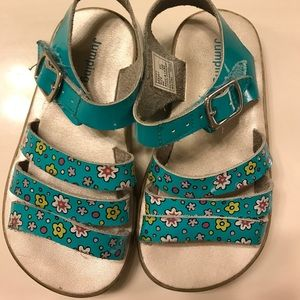 Jumping Jacks Other - Jumping Jacks teal with flower sandals