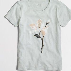 NWT J. Crew Factory Flower Collector T-shirt