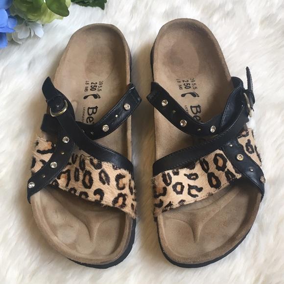 29334efc966 Birkenstock Shoes - Birkenstock Betula Leopard Print Bling Sandals