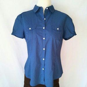 L.L. BEAN Polka Dot Shirt