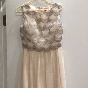 Dresses & Skirts - Chi Chi London cream sparkly dress