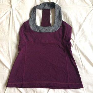 lululemon athletica Tops - Grey & burgundy/ purple lulu workout top