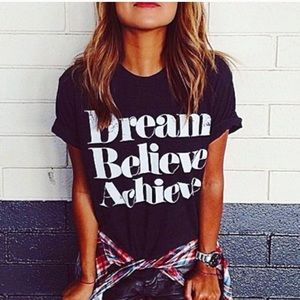 SoShelbie Tops - Only one left ❗️ Dream Believe Achieve Tee NWT