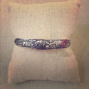 Jewelry - Silver Boho Elephant Cuff Layer Statement Bracelet