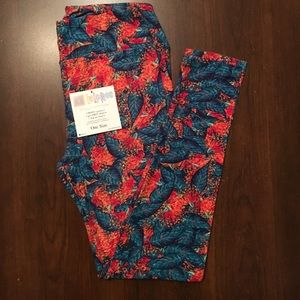 New lularoe floral leggings OS