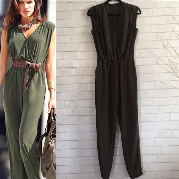 3de25d97468 Zara Olive green jumpsuit size S. M 58e06a473c6f9f435902fa1d