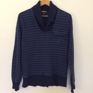 Rugby Ralph Lauren Navy Blue Stripe Sweater