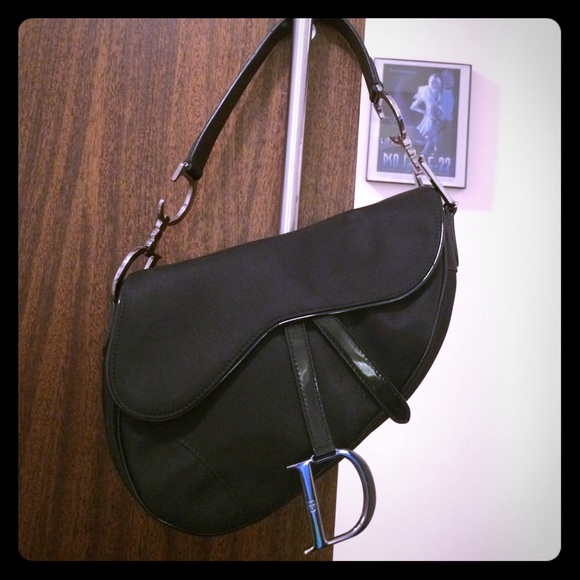 8e5e6465043 Christian Dior Handbags - Christian Dior Saddle Bag Black - Authentic