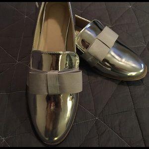 ASOS Silver Metallic Loafers
